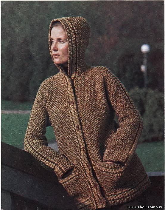Вязание теплой куртки спицами