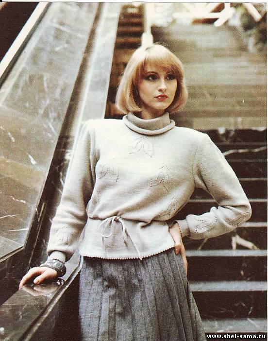 Воротник-хомут на мужском свитере связан ... на 1-3 см) или же вяжется...