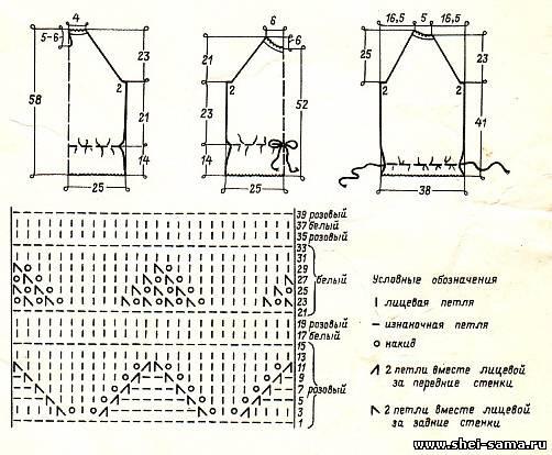 Вязание реглан снизу спицами схема 91
