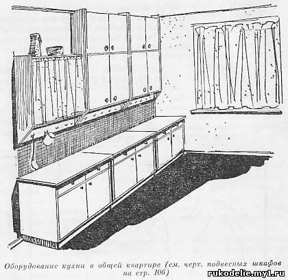 Если все кухонные столы одной ширины, то подвесные шкафы могут быть по...